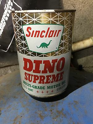 Sinclair Dino Supreme  Vintage Full Oil Can