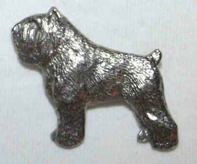Bouvier des Flandres Dog Fine PEWTER PIN Jewelry Art USA Made