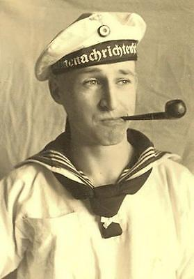 WWII Photo German Kriegsmarine Sailor Portrait   WW2 B&W World War Two/ 2393
