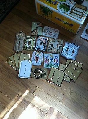 Large Lot Over 20 Light Switch Plate Covers Double & Single Hardware mixed lot