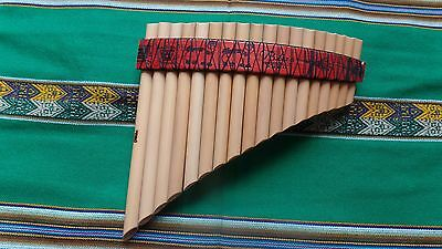 Amazing  Panflute 18  Pipes From Peru - Case Included-See Video