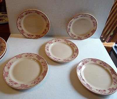"5 Rose Point Inca Ware Shenango China 7 1/4"" Diameter Plates"