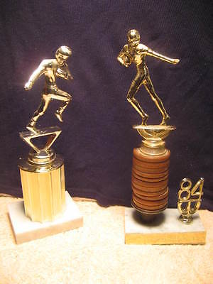 Football Figures Trophy , Lot Of 2 Vgc 1984