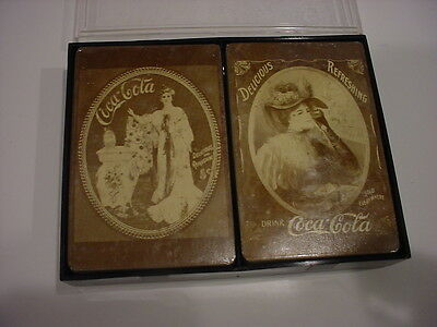 vintage 1900's STYLE COCA-COLA DOUBLE DECK Women SEALED PLAYING CARDS