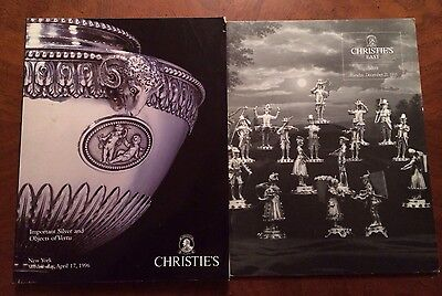 2 Christie's Auction Catalogs Important English American Sterling Silver 1990s