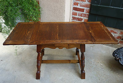 Antique Vintage English Oak Draw Leaf Coffee Table Tea Table Small