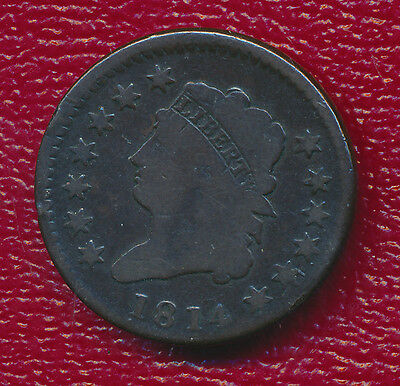 1814 Classic Head Large Cent **highly Collectible Type Coin** Free Shipping!
