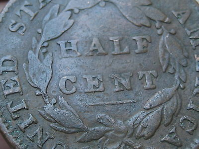1832 Classic Head Half Cent- VG Details, Scarce Type Coin