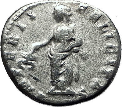 CARACALLA 198AD Authentic Ancient Silver Roman Coin Felicitas Good luck i60382