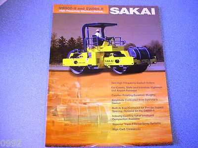 Sakai SW800-ll & SW850-ll High Frequency Vibratory Rollers Brochure