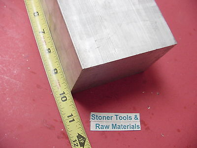 "3-1/2""x 3-1/2"" ALUMINUM SQUARE 6061 FLAT BAR 10"" LONG SOLID T6511 Mill Stock"