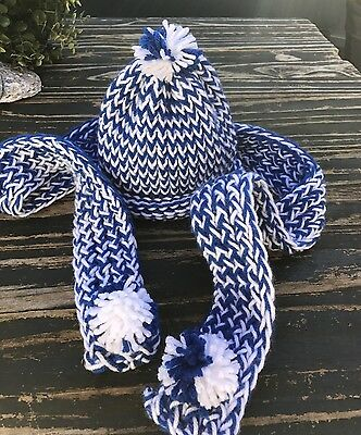 Girl's Crochet Hat And Scarf Set, Approximate Size 1-3 Years