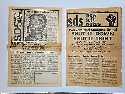 SDS New Left Notes 1969  Workers Students Unite Shut It Down Shut It Tight Flyer