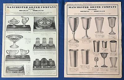 1930s Manchester Silver Company Sterling Hollowware Novelties Flatware Catalog