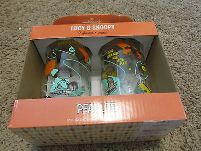 Peanuts Snoopy & Lucy and Characters Drinking Glass from hallmark new
