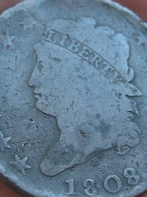 1808 Classic Head Large Cent Penny- VG Details