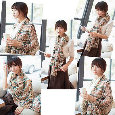 Women Lady Pashmina Scarves Shawl Wrap Vintage Long Soft Scarf New