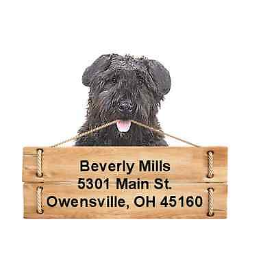 Bouvier des Flandres return address labels DIE CUT TO SHAPE