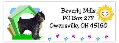 Bouvier des Flandres return address labels waterproof dog house design