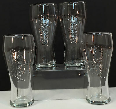 Budweiser lot of 4 Beer Glasses, old Bar Stock~ NEW~ glass