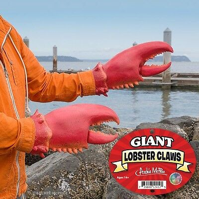 Giant Lobster Claw Gloves Archie McPhee Genuine Item -  Latex Animal Costume