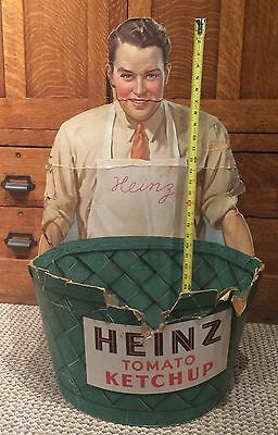 1930s Antique Original GENERAL STORE Large HEINZ Tomato KETCHUP Store Display