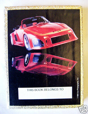 Vintage Booklplates Red Sports Car 20 Ct by Antioch Pub Co 1985 Izui Photography
