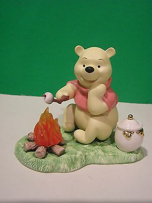 LENOX Disney CRACKLING CAMPFIRE sculpture NEW in BOX with COA Winnie the Pooh