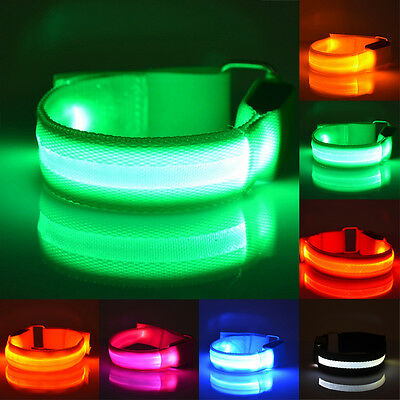 Multi Colors Cool Flashing Led Light Glow Armband Belt Sports Festival Party