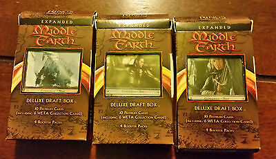 LOTR Lord of the Rings tcg EXPANDED Middle Earth ALL 3 Draft decks RARE!