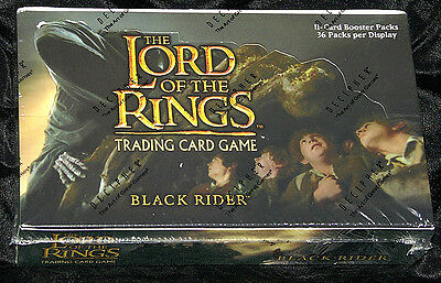 LOTR Lord of the Rings tcg sealed BLACK RIDER booster box 36 packs