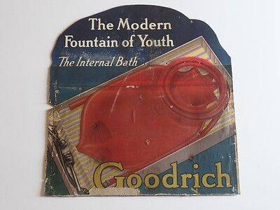 Antique Goodrich Store Display - Advertising Sign Paperboard Bath and Beauty