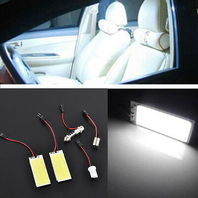 2PCS HID Xenon White 36 COB LED Dome Map Bulb Light Car Interior Panel Lamp 12V