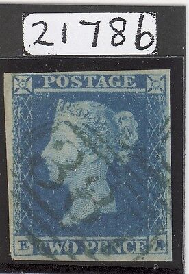 1841 2d Blue Cancelled In Green. CAT £9000.