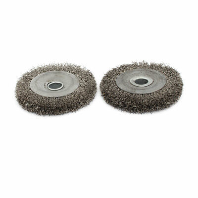 100mm Dia Stainless Steel Wire Polishing Brush Wheel Buffing Tool 2pcs