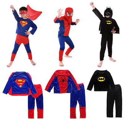 Halloween Costume Party Cosplay Fancy Suit Boy Kid Toddler Superman Clothing Set