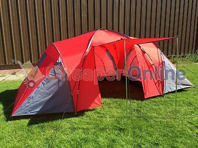 6 Man / Six Person Dome Camping Tent with THREE Rooms
