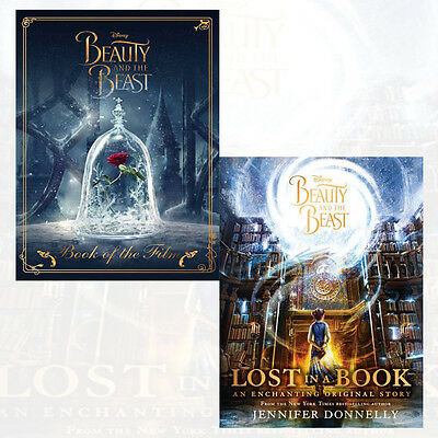 Disney Beauty 2 Books Collection Set Beast Book of the Film,Beast Lost in a Book