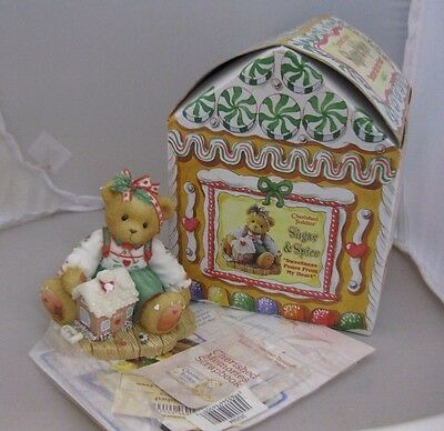 Cherished Teddies Enesco Sharon Sweetness Pours from My Heart Sugar & Spice NIB
