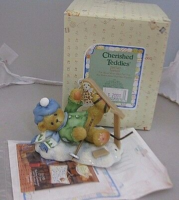 Cherished Teddies Spencer I'm Head Over Skis for You  #269743 NIB