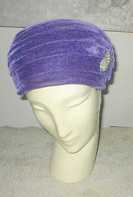 Vintage, 50s Sunday,Cocktails ~ Purple Velvet Hat