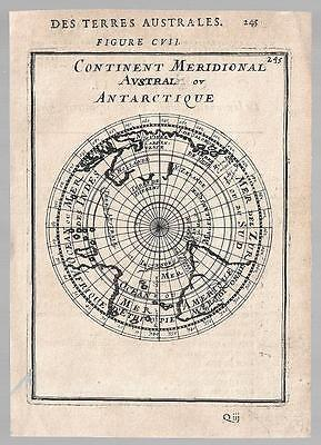 Antarctica Old Map By Mallet 1683