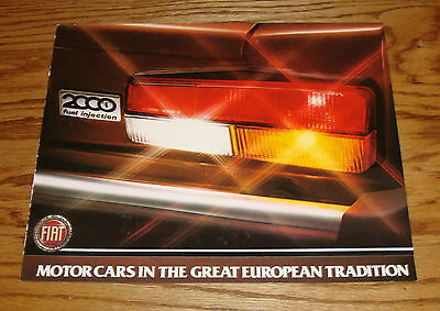 Original 1981 Fiat Spider 2000 Foldout Sales Brochure 81