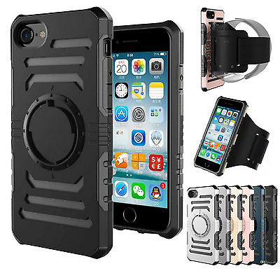 Detachable ShockProof Gym Running Sports Armband Case For iPhone 6s 6 7 Plus