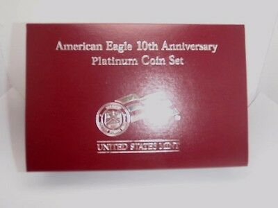2007 Platinum American Eagle 10th Anniversary Reverse 2 coin Proof Set Complete