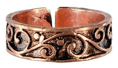 Adjustable Copper Filigree Toe Ring!