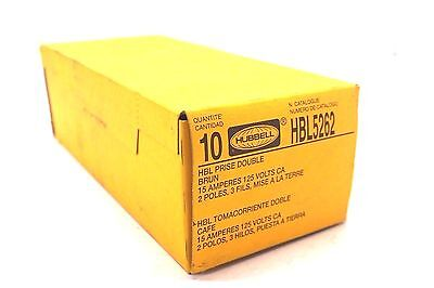 10 New Hubbell Hbl5262 Receptacle