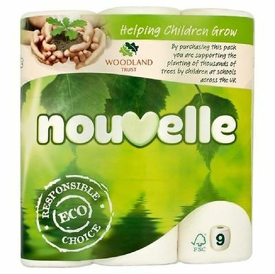 Sofidel Nouvelle 2 Ply Eco Friendly Bathroom Toilet Tissue Rolls 45 Pack