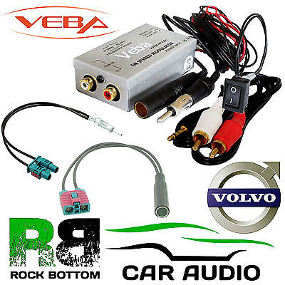 VOLVO V50 Car AUX In Veba FM Radio Modulator with Aerials for iPhone MP3 Devices