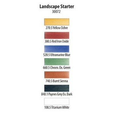 Armadillo Art & Craft Cf30072  Panpastel 7 Colour Starter Set Landscape